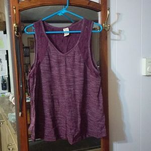 Tank top with lace by back